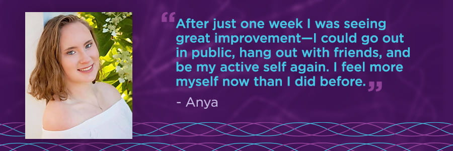 Anya's patient story banner