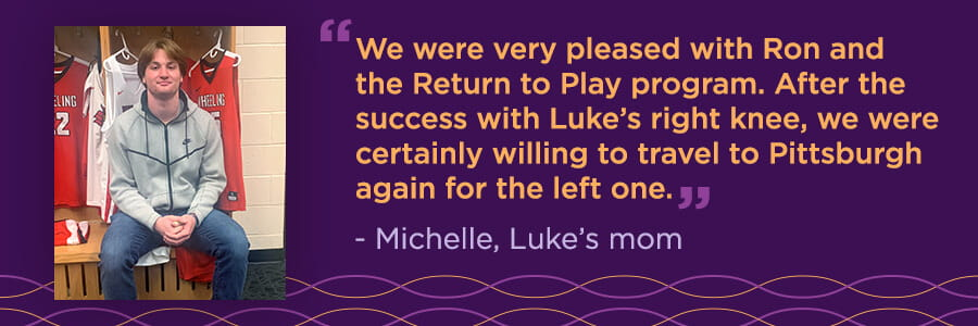 Luke's Story: Return to Play After Back-to-Back ACL Injuries