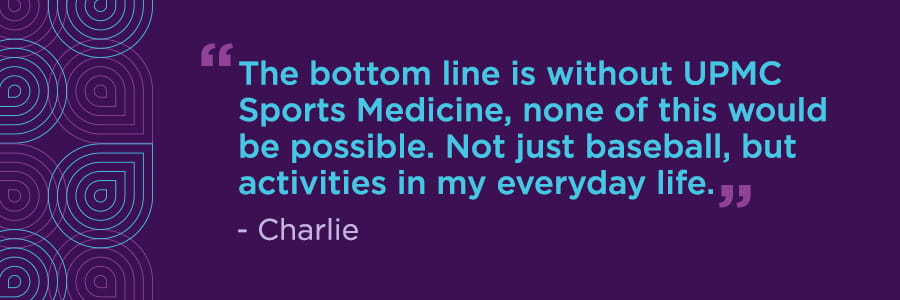 Charlie's Story: Getting Back to the Pitcher's Mound After Elbow Surgery