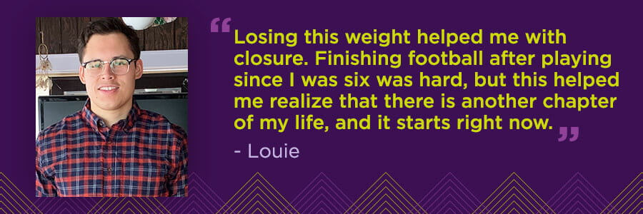 Louie's Story: Sports Nutrition Helps Former Defensive Lineman on Weight Loss Journey